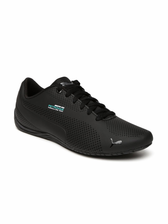 d47d488201507c Buy Puma Unisex Black Mercedes Drift Cat Ultra Sneakers - Casual ...