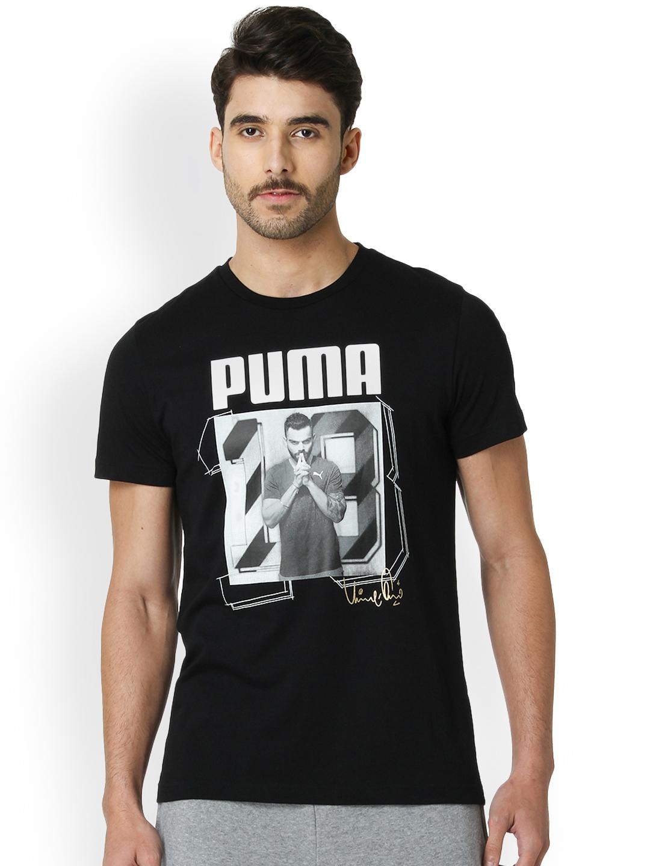 22222b6ae42c3e Buy One8 X PUMA Men Black Printed Round Neck T Shirt - Tshirts for ...