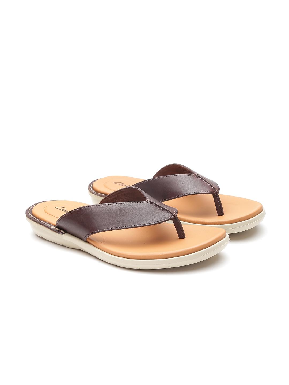 6aaa4e4bc185 Buy Clarks Men Brown Leather Comfort Sandals - Sandals for Men ...