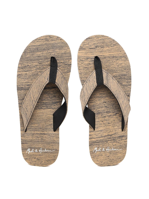 2c3344b32cbd6 ... Mast Harbour Men Brown Printed Thong Flip-Flops nice shoes 645e2 a4e98  ...
