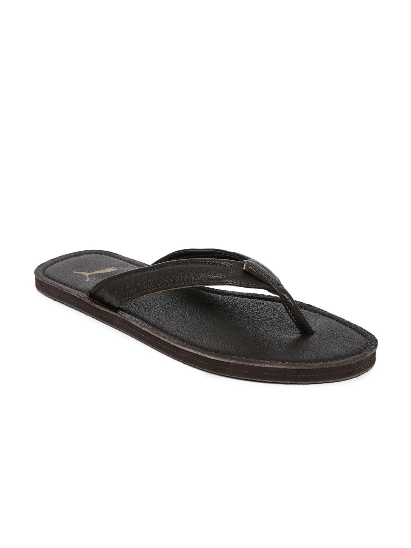 d98e0e36c2e20f Buy Puma Men Coffee Brown Solid Thong Flip Flops - Flip Flops for ...