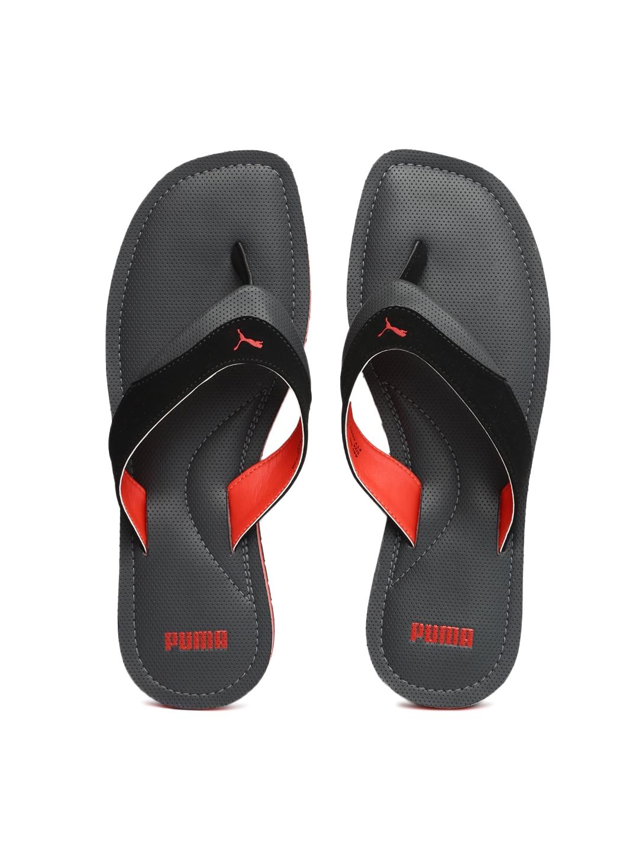 7bd019319c2a Buy Puma Men Grey   Black Caper Perforated Sandals - Sandals for Men ...