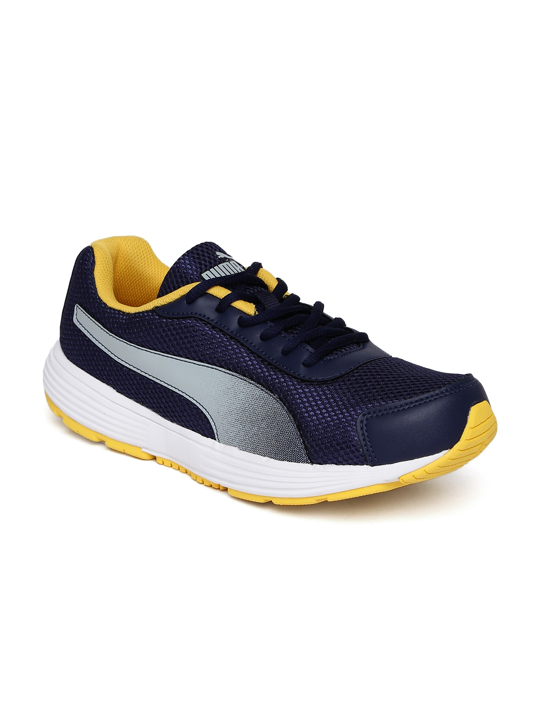 Buy Puma Men Navy Blue Aeden Running Shoes - Sports Shoes for Unisex ... 785a3d557
