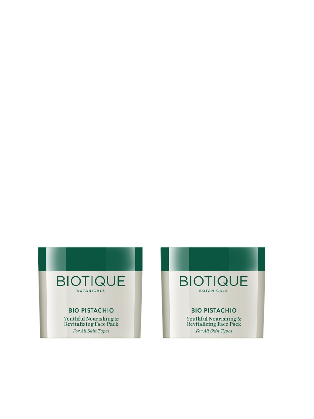Biotique Set of 2 Bio Pistachio Youthful Nourishing   Revitalizing Face Packs