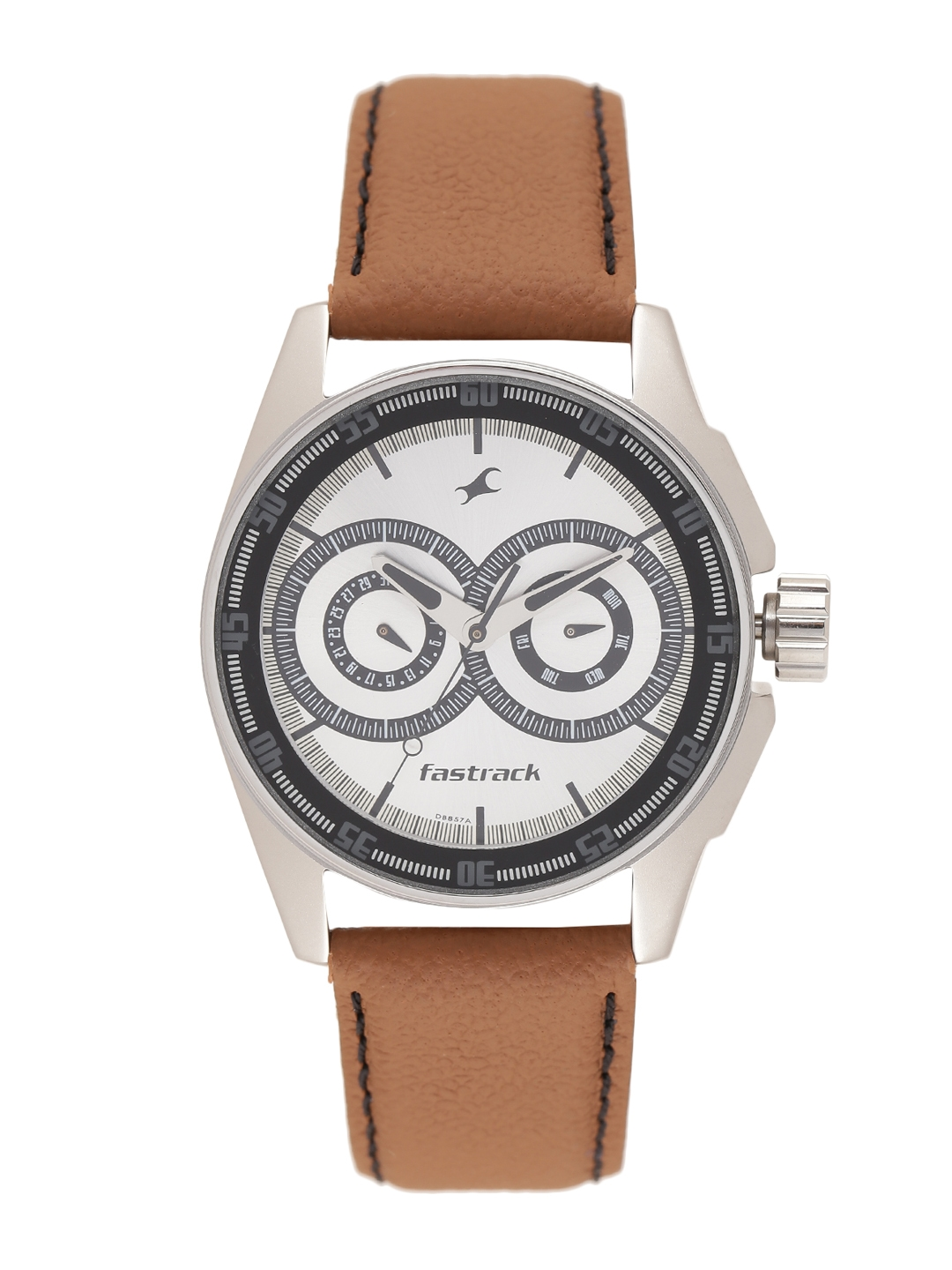 Fastrack Men Silver Toned Dial Watch NF3089SL07