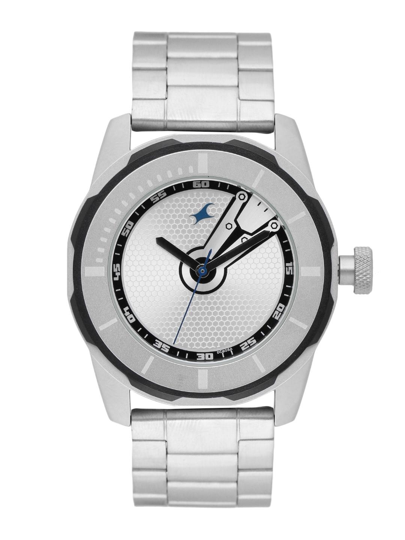 Fastrack Men Silver Toned Printed Analogue Watch NG3099SM01C