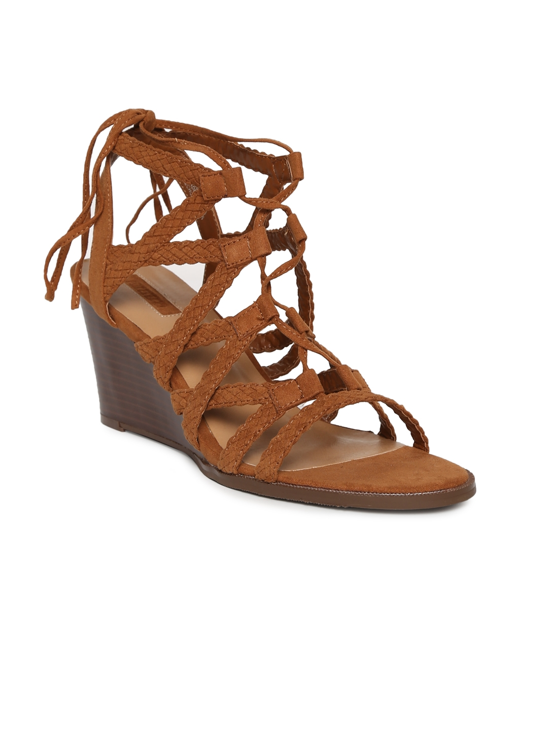 3ab80a1dbf3a Buy FOREVER 21 Women Tan Brown Solid Gladiators - Heels for Women ...