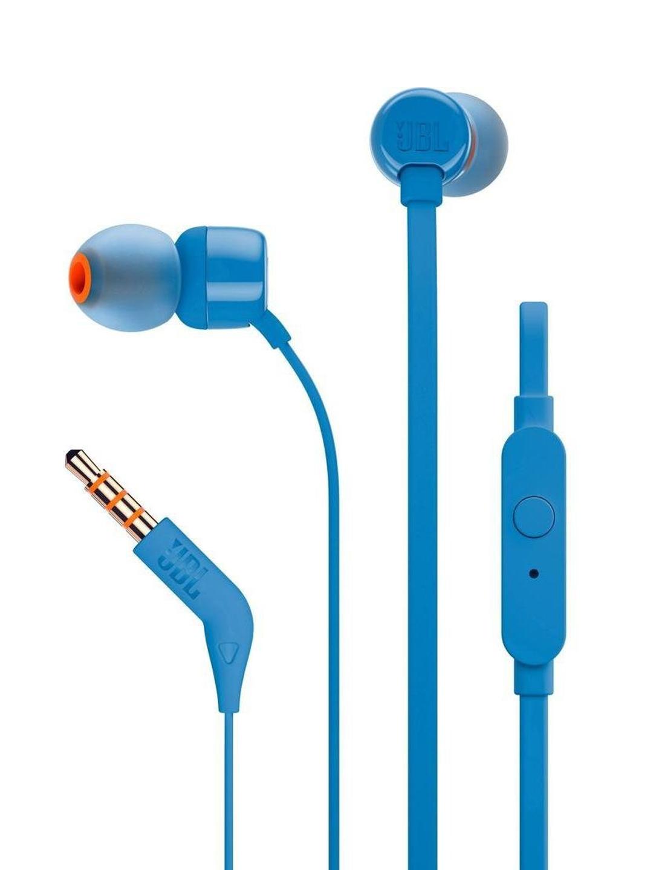 JBL Unisex Blue T110 In Ear Headphones