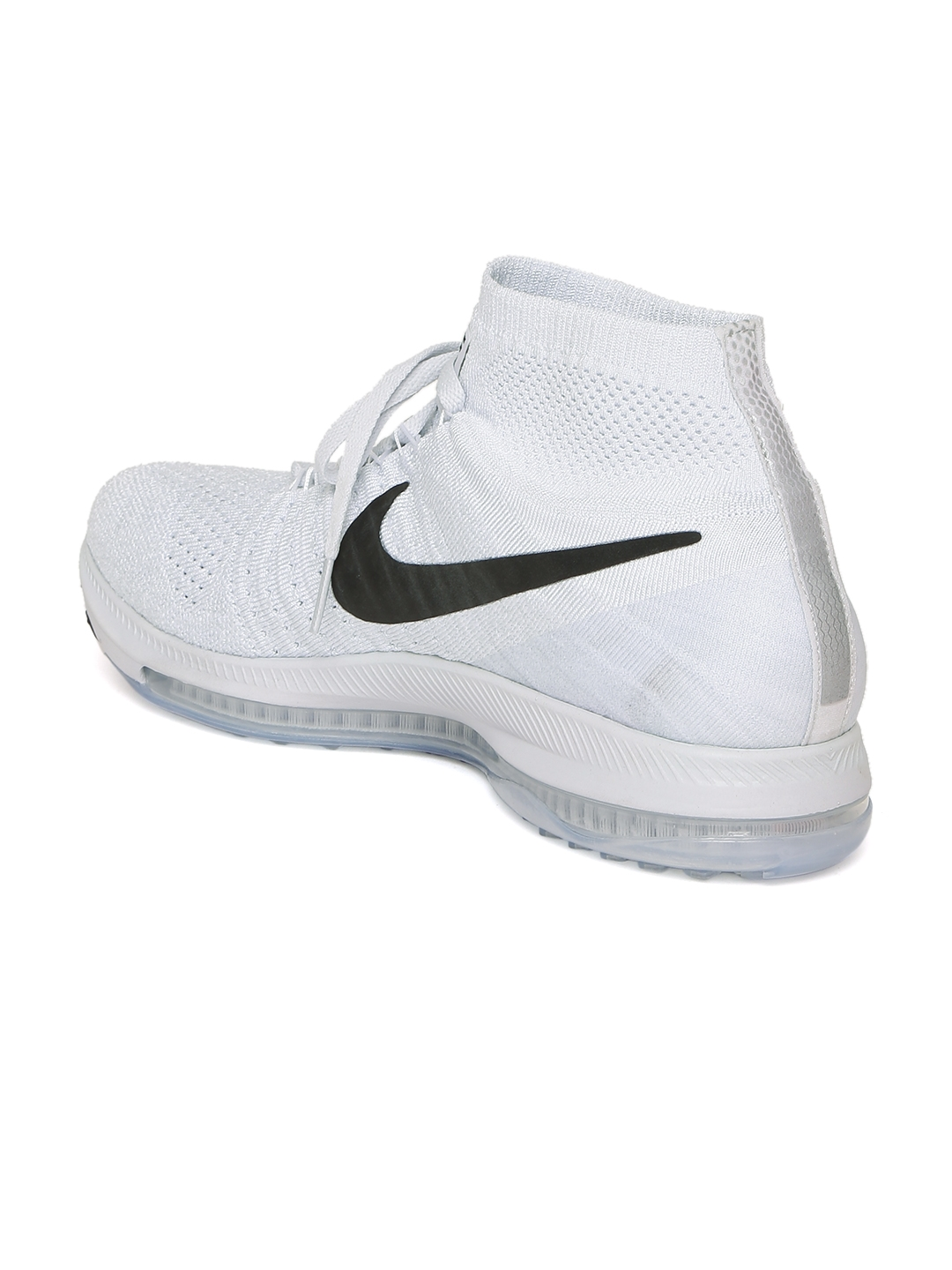 Buy Nike Men Grey Zoom All Out Flyknit Mid Top Running Shoes ... c0d3b2b52