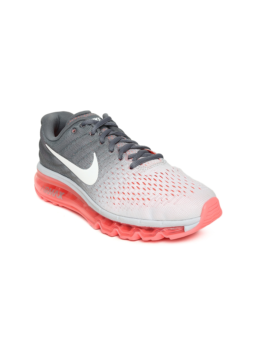 b51a819d5dfdaf Buy Nike Women White   Grey AIR MAX 2017 Running Shoes - Sports ...