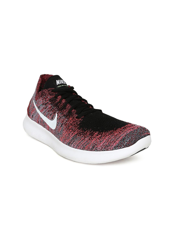 ae7e245ad62 Buy Nike Women Grey   Pink FREE RN FLYKNIT 2017 Running Shoes ...
