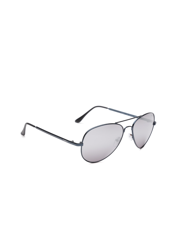 db44181f1fc Buy Pepe Jeans Unisex Mirrored Aviator Sunglasses PJ5141 ...