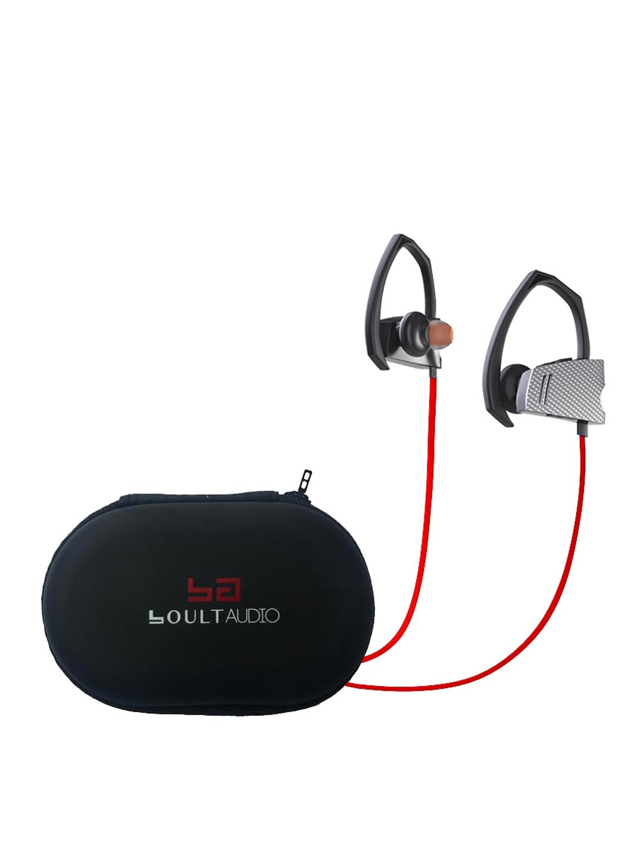 fe7fdd76232 Buy Boult Grey & Red Edge HD Wireless Bluetooth Earphones With Mic -  Headphones for Unisex 2268285 | Myntra