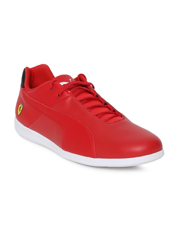 Buy Puma Unisex Red Scuderia Ferrari Future Cat Casual Sneakers ... cdc7ad508