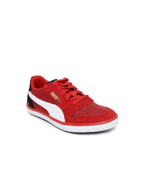 b5fd22b086be6 Buy Puma Kids Red Printed Icra Trainer Vulc NL Superman Jr Sneakers ...