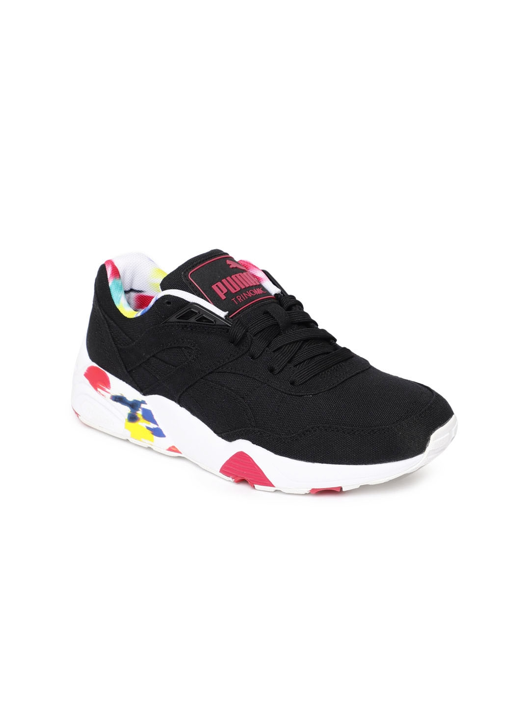 cb8d6e3a36a0 Buy Puma Women R698 Blur Black Sneakers - Casual Shoes for Women ...