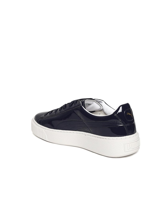 3e629ea75dd Buy Puma Women Navy Basket Platform Patent Sneakers - Casual Shoes ...