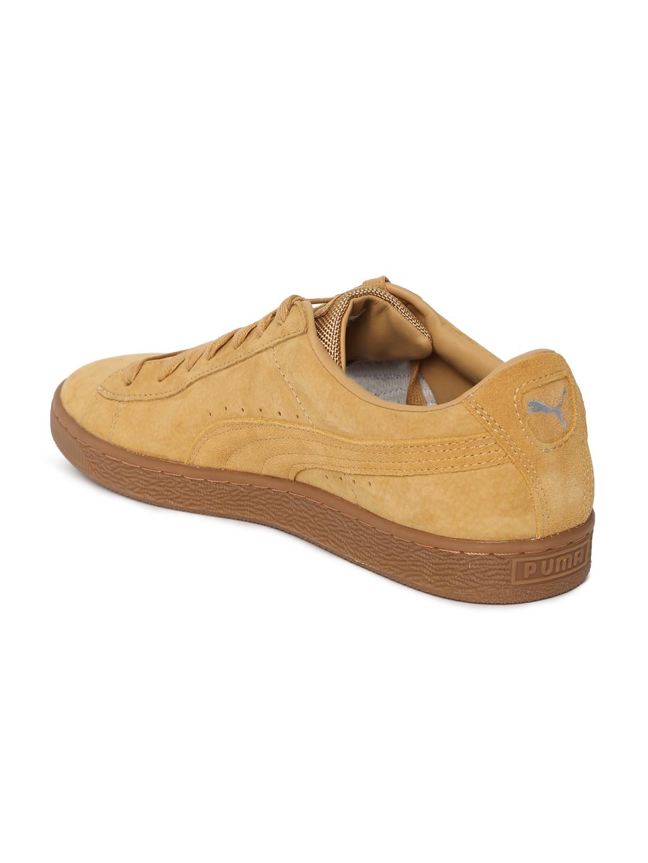 9dfc0d83fe2 Puma Unisex Tan Brown Basket Classic Weatherproof Taffy Suede Sneakers
