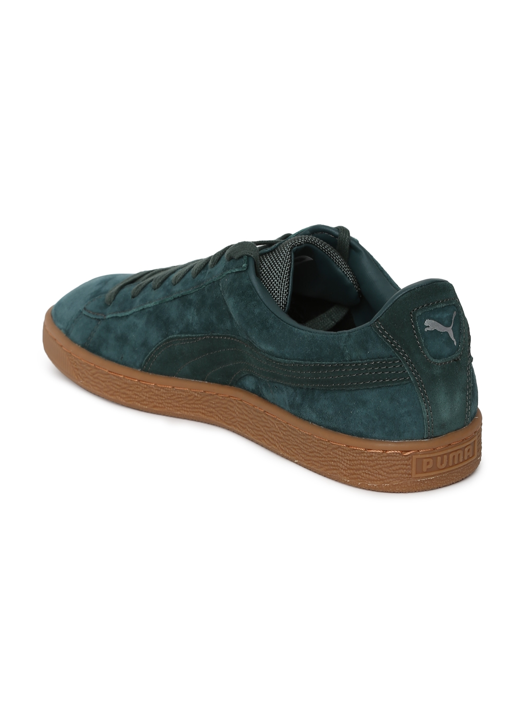 aaa462cd8a5dc8 Puma Unisex Green Basket Classic Weatherproof Taffy Suede Sneakers