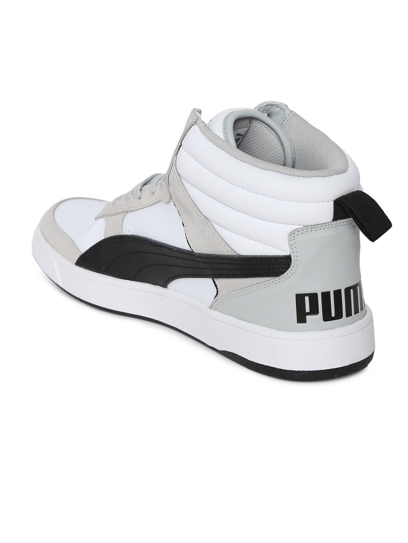 6b643fff23e3a2 Buy Puma Men White Suede Mid Top Rebound Street V2 IDP Sneakers ...