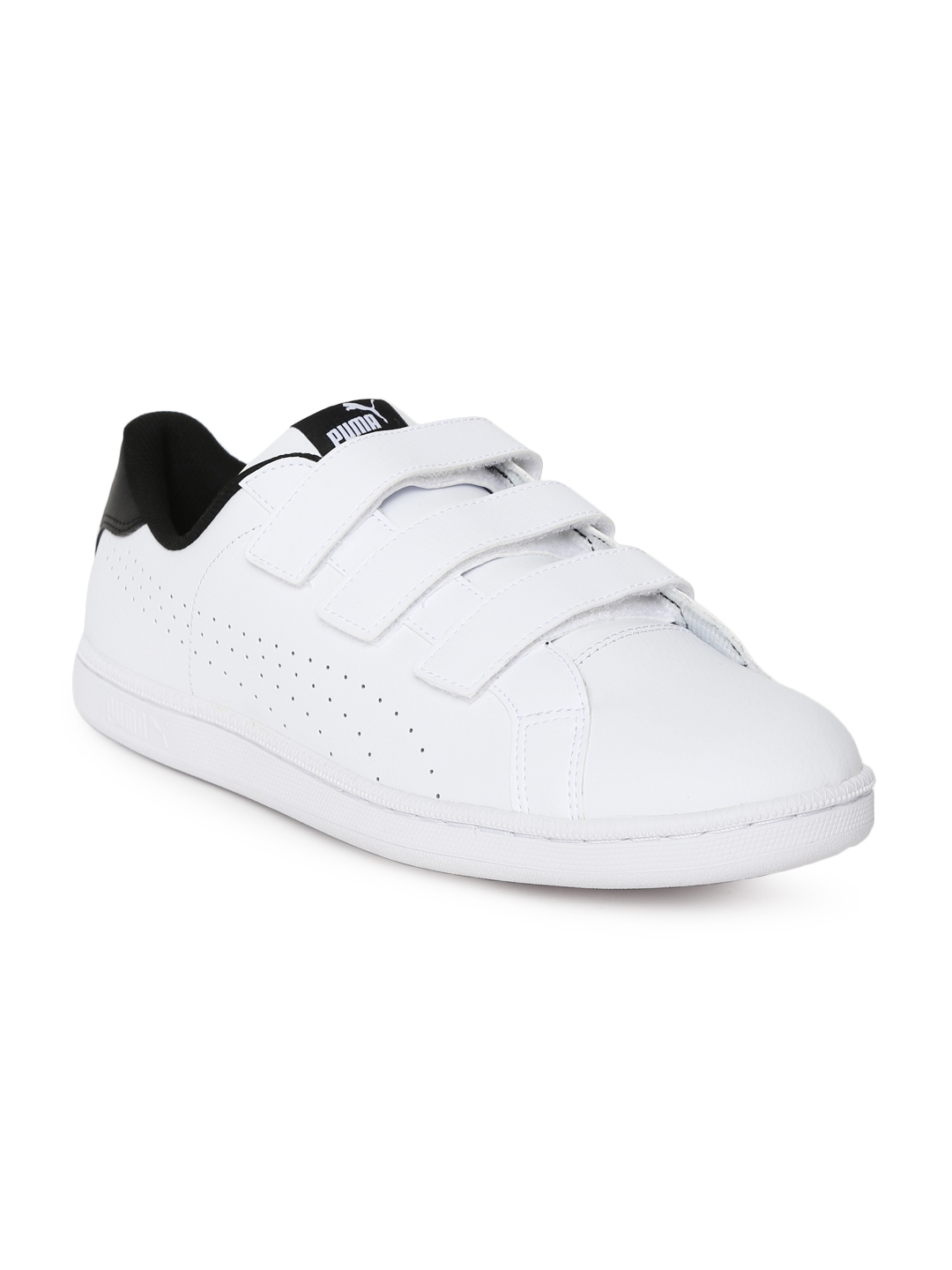 cc79ccf836a5 Buy Puma Men White Smash Velcro IDP Leather Sneakers - Casual Shoes ...
