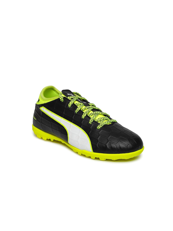 Puma Unisex Black evoTOUCH 3 Jr Football Shoes