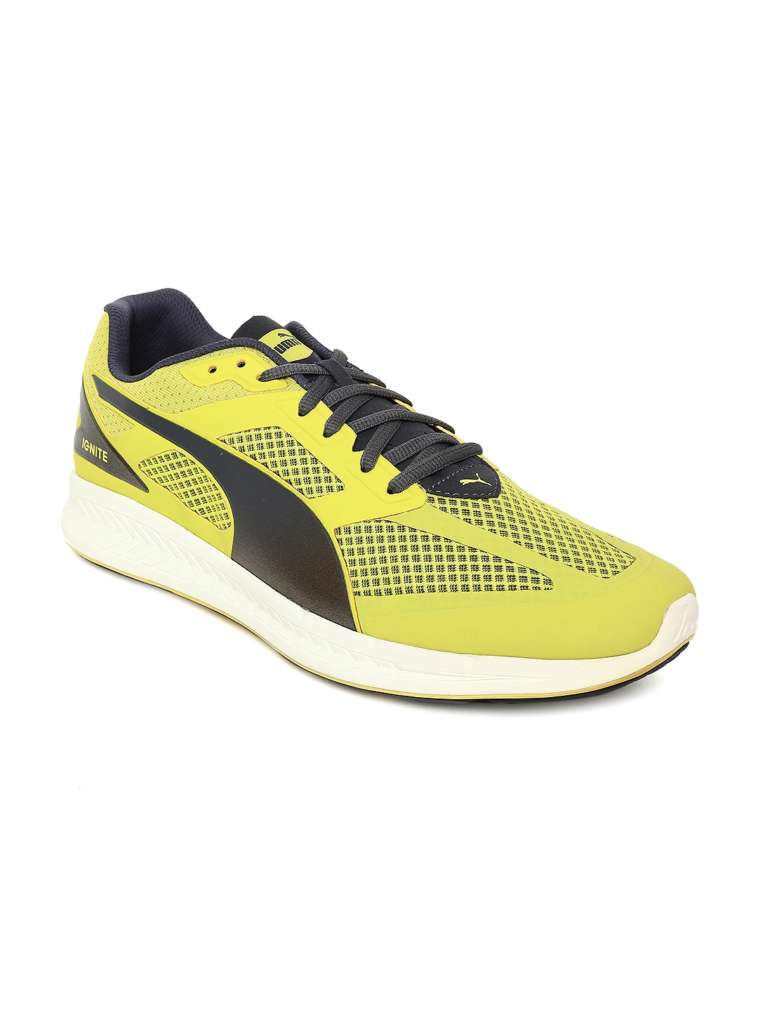 dcacdfc6da Puma Men Yellow IGNITE Mesh Running Shoes