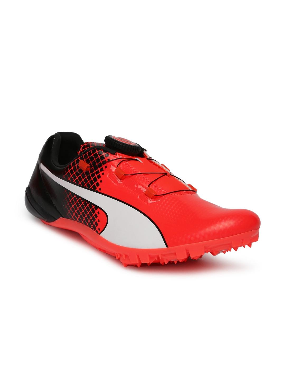 e19be14c16e9 Buy Puma Unisex Orange   Black EvoSPEED DISC TRICKS Running Shoes ...