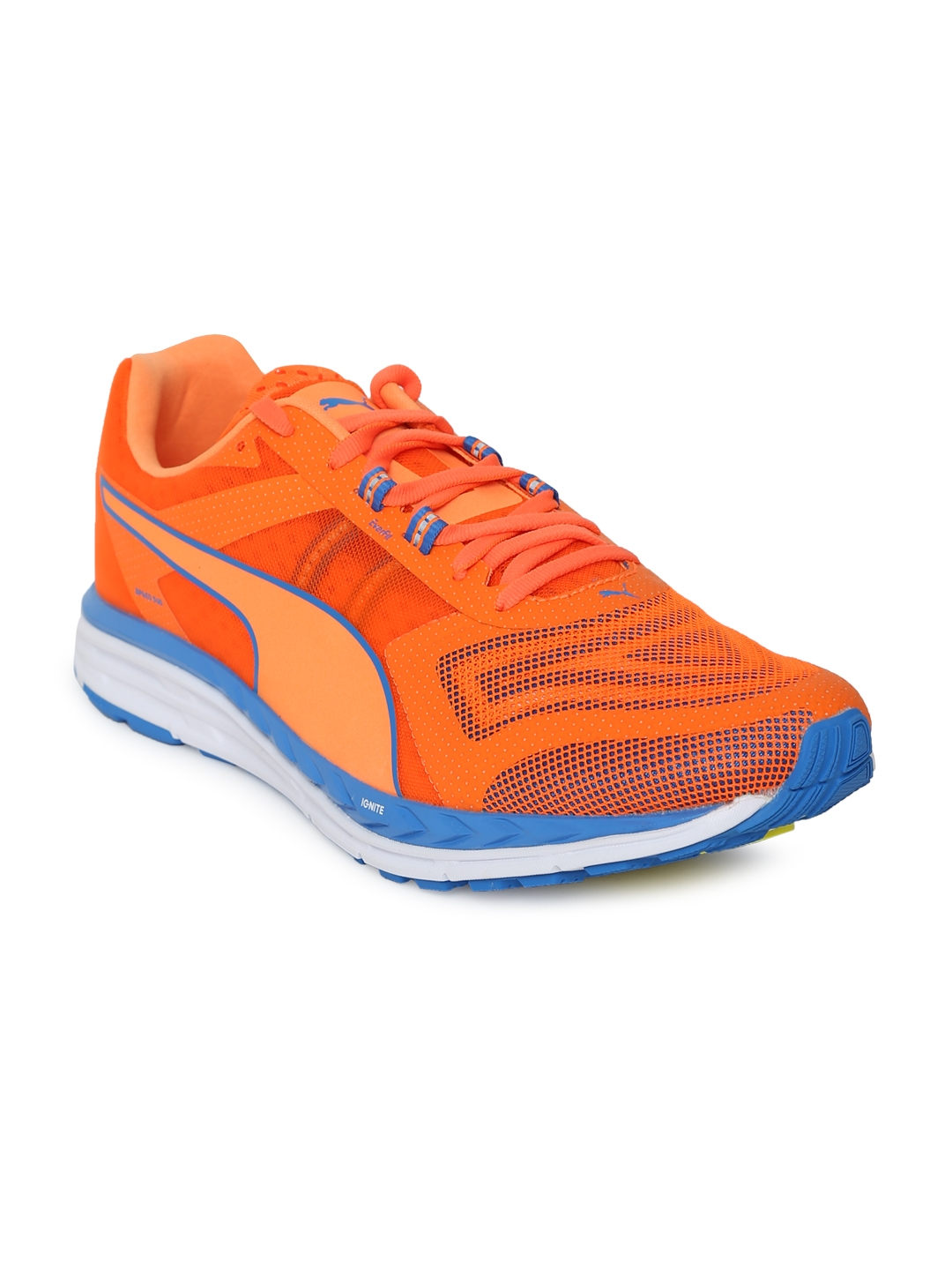 c76c46cc7ebb Buy Puma Men Orange Speed 500 IGNITE PWRCOOL Running Shoes - Sports ...