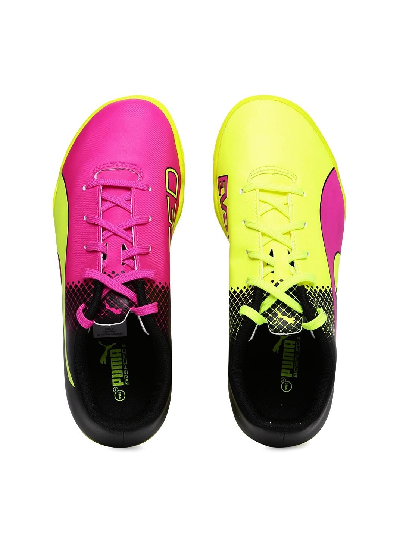 Buy Puma Kids Pink \u0026 Fluorescent Green