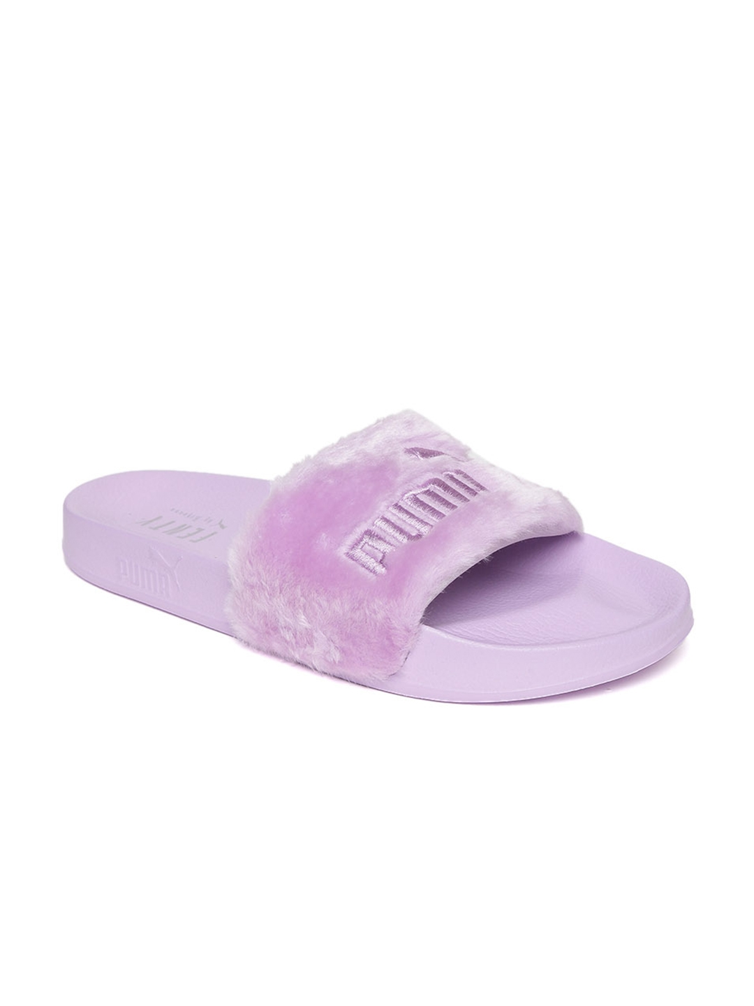 Buy Puma Unisex Lavender Faux Fur Slide Slip On Flip Flops - Flip ... 0792808294