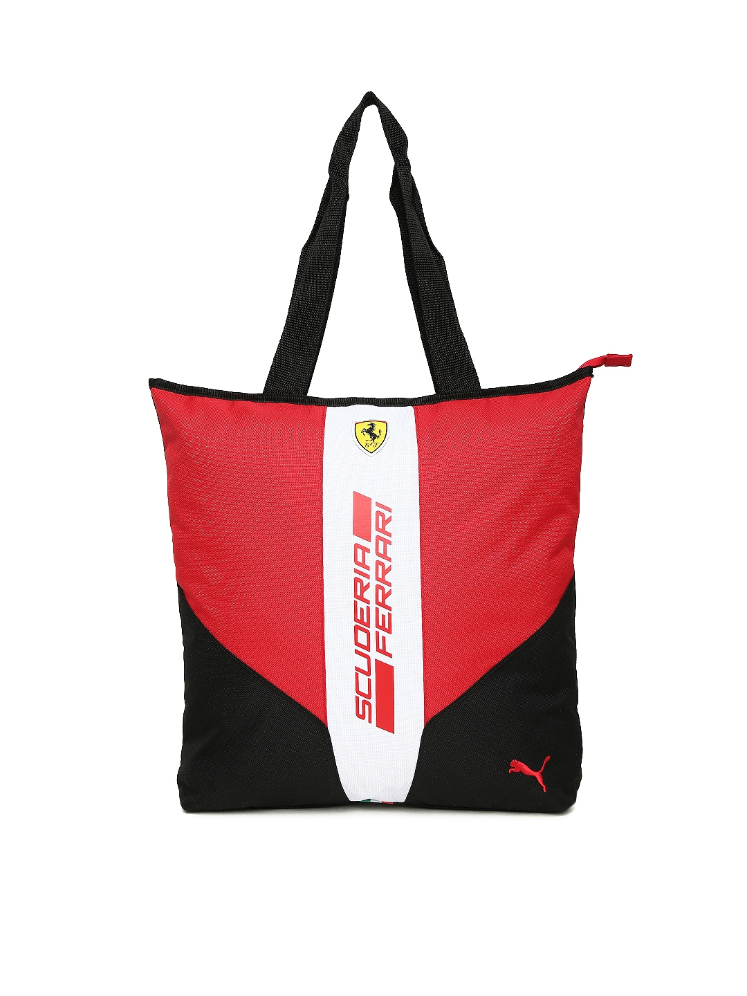 657406c674af Buy Puma Red   Black Printed Ferrari Fanwear Shopper Tote Bag ...