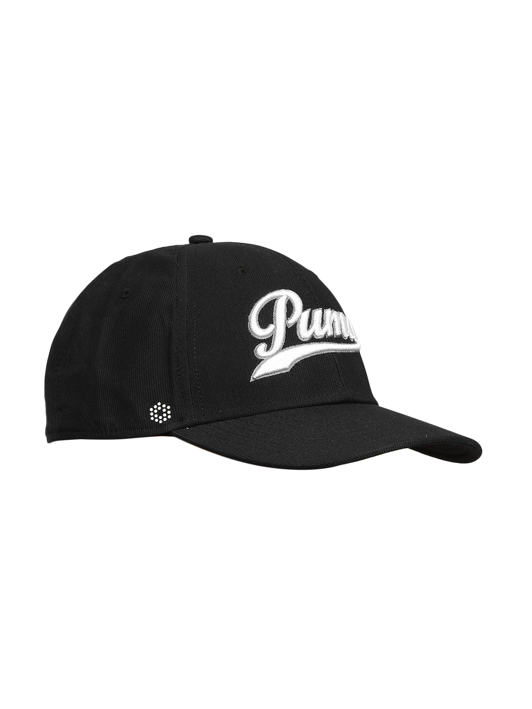 Buy Puma Men Black Solid Script Fitted Baseball Cap - Caps for Men ... 95414262fbe2
