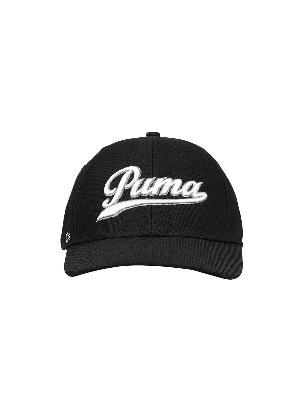 e41c29e2259c3 Buy Puma Men Black Solid Script Fitted Baseball Cap - Caps for Men ...