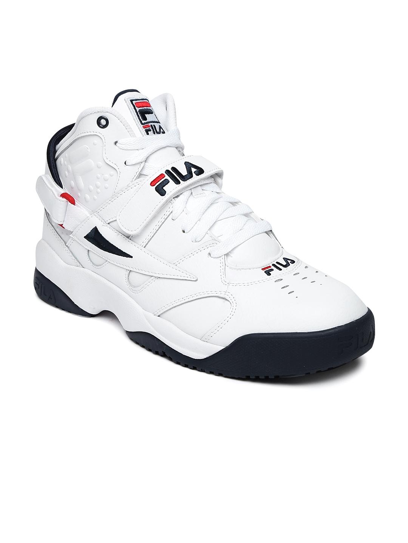 3d4648039b69 Buy FILA Men White Mid Top SPOILER Sneakers - Casual Shoes for Men ...