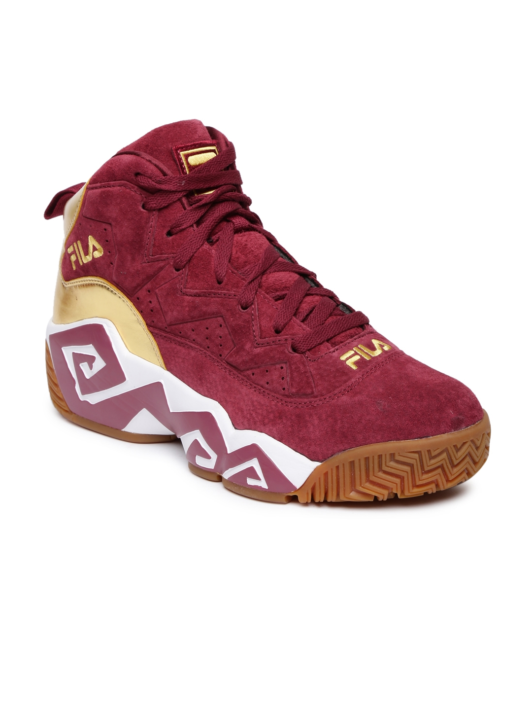 7d3831ed5799 Buy FILA Men Maroon Solid MB Suede Sneakers - Casual Shoes for Men ...