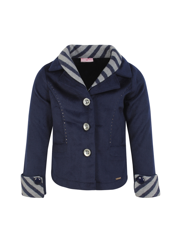 33db4af3fa58 Buy CUTECUMBER Girls Navy Blue Coat - Coats for Girls 2277291