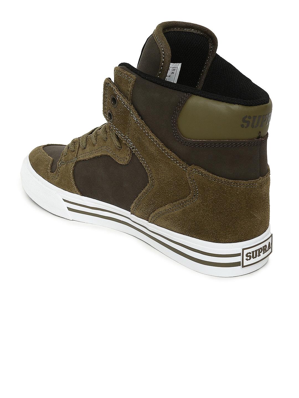 9ca6d1d428c2 Buy Supra Men Olive Green Solid VAIDER High Top Sneakers - Casual ...