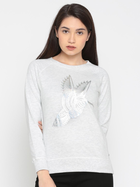 Pepe Jeans Women Grey Printed Sweatshirt