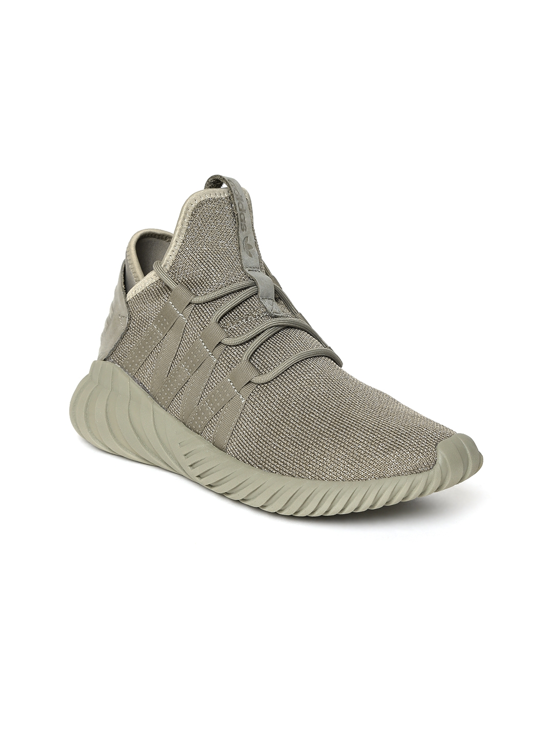 cheap for discount 9b0d7 58ced ADIDAS Originals Women Olive Green Tubular Dawn Shimmer Textile Mid-Top  Sneakers