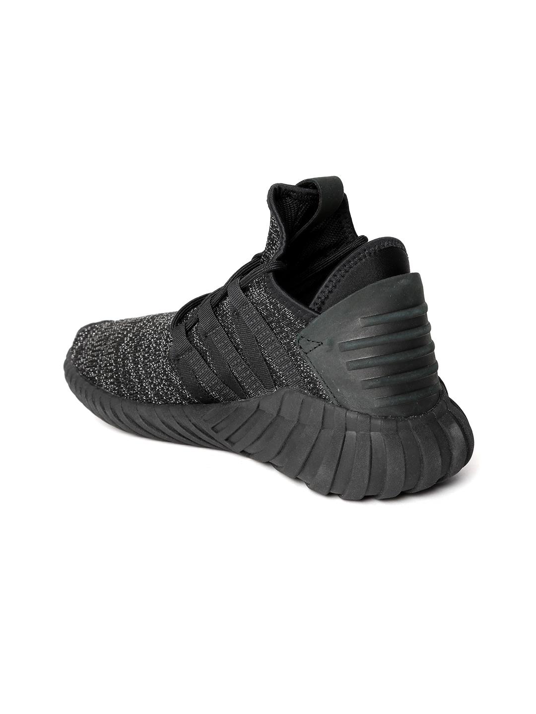 16a769032 ADIDAS Originals Women Black Tubular Dawn Shimmer Mid-Top Sneakers