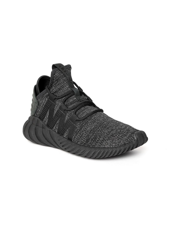 2f652053fcc784 ADIDAS Originals Women Black Tubular Dawn Shimmer Mid-Top Sneakers