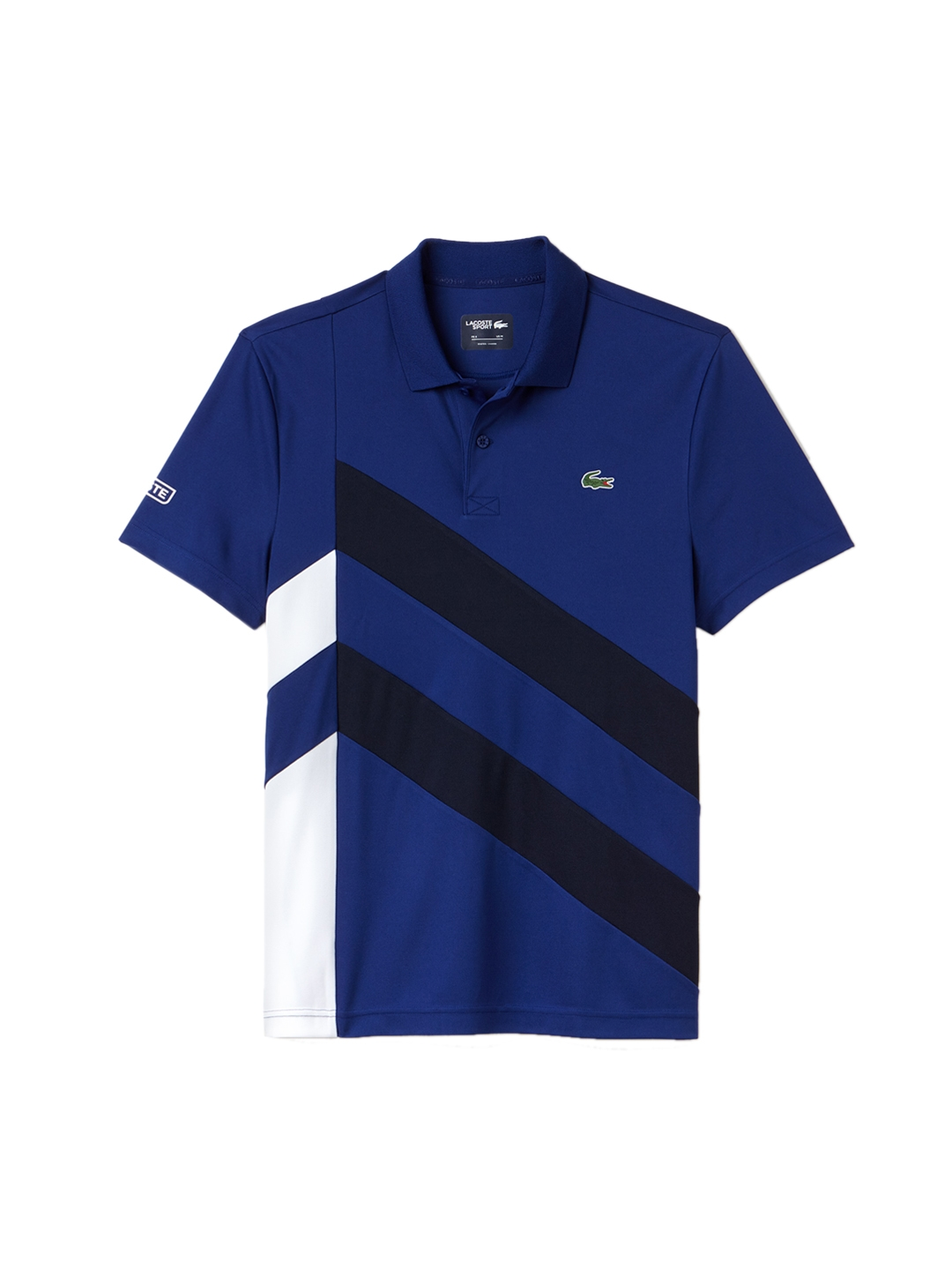 194012fd2 Buy Lacoste Men Blue Striped Polo Collar T Shirt - Tshirts for Men ...