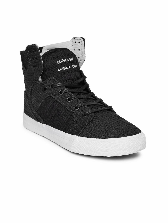 Buy Supra Women Black SKYTOP Sneakers - Casual Shoes for Women ... faa330ccd