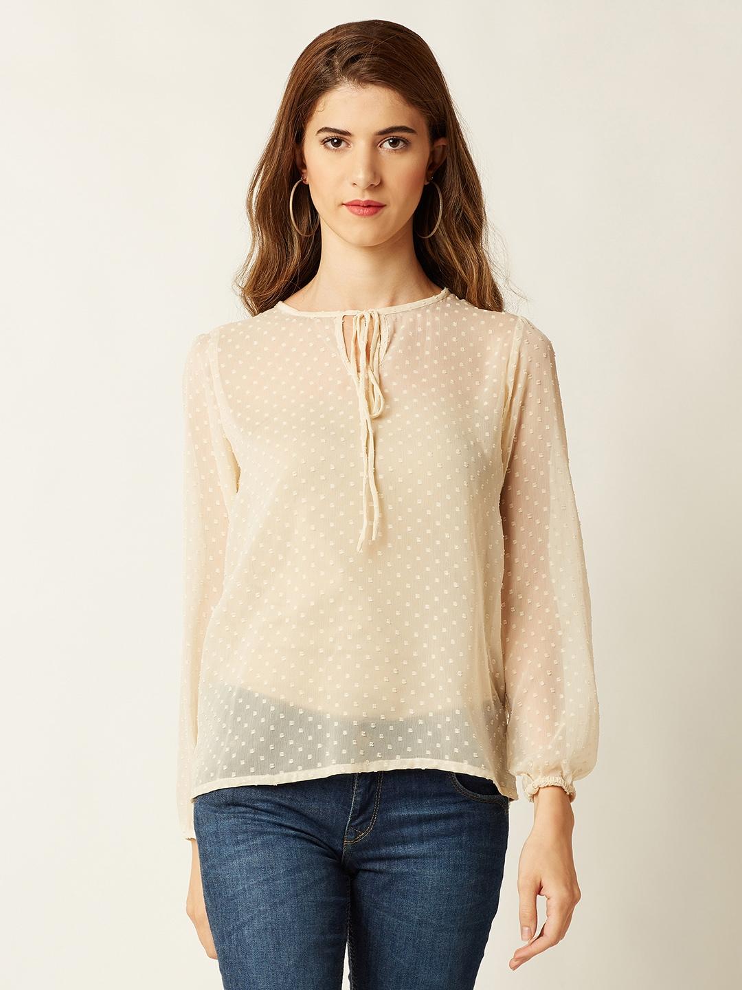 Miss Chase Women Beige Solid Top
