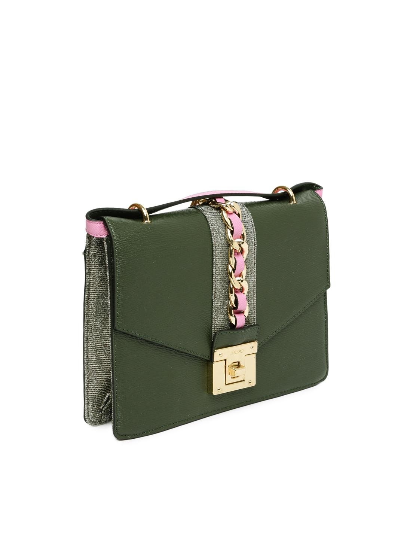 6c65758fce Buy ALDO Olive Green Solid Sling Bag - Handbags for Women 2296933 ...