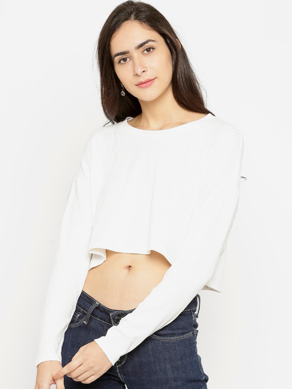 4461b5b8358 Buy FOREVER 21 Women White Crop Top - Tops for Women 2296997