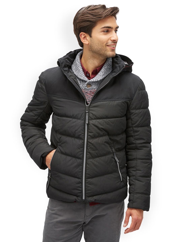 4d4cb4d3a2b9 Buy Tom Tailor Men Black Solid Open Front Jacket - Jackets for Men ...