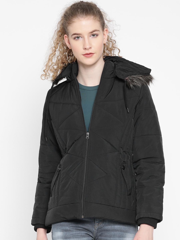 28fb3552e Buy Fort Collins Women Black Solid Parka Jacket - Jackets for Women ...