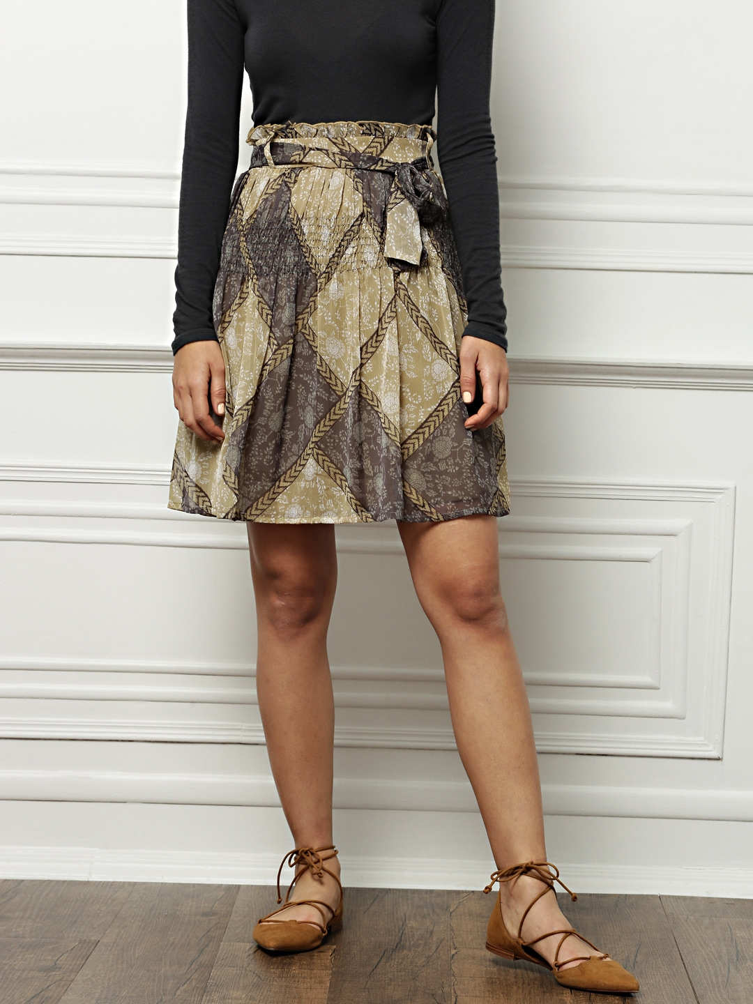 ddd463571 Buy All About You From Deepika Padukone Olive Green Printed A Line ...